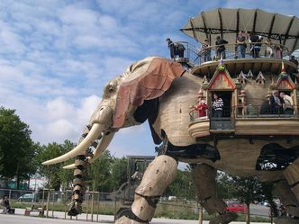 "The mechanical elephant at ""Les Machines de l'Ile"" in Nantes"